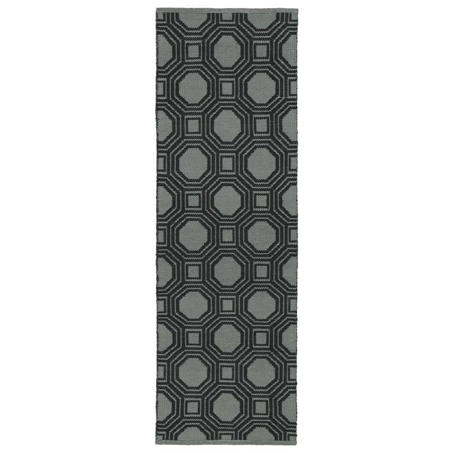 Kaleen Brisa Black Rectangular Indoor/Outdoor Handcrafted Coastal Runner (Common: 2 x 6; Actual: 2-ft W x 6-ft L)