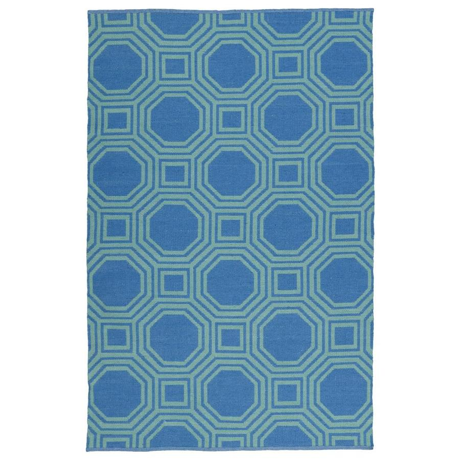 Kaleen Brisa Blue Rectangular Indoor/Outdoor Handcrafted Coastal Throw Rug (Common: 2 x 3; Actual: 2-ft W x 3-ft L)