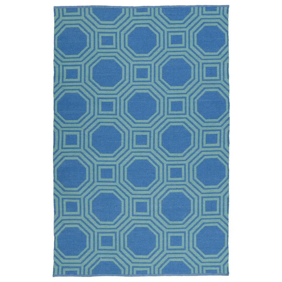 Kaleen Brisa Blue Rectangular Indoor/Outdoor Handcrafted Coastal Area Rug (Common: 8 x 10; Actual: 8-ft W x 10-ft L)