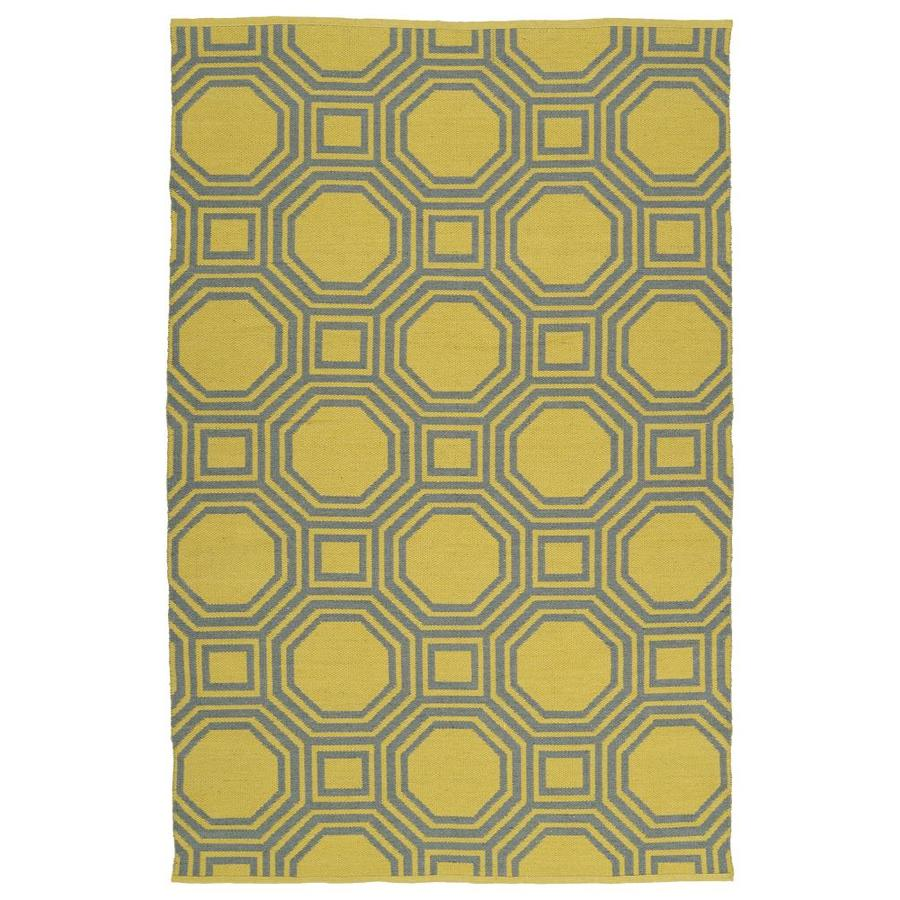 Kaleen Brisa Yellow Rectangular Indoor/Outdoor Handcrafted Coastal Area Rug (Common: 8 x 10; Actual: 8-ft W x 10-ft L)