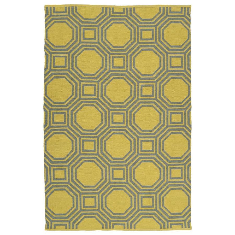 Kaleen Brisa Yellow Rectangular Indoor/Outdoor Handcrafted Coastal Area Rug (Common: 9 x 12; Actual: 9-ft W x 12-ft L)