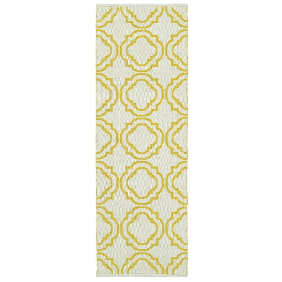 Kaleen Brisa Yellow Rectangular Indoor/Outdoor Handcrafted Coastal Runner (Common: 2 x 6; Actual: 2-ft W x 6-ft L)