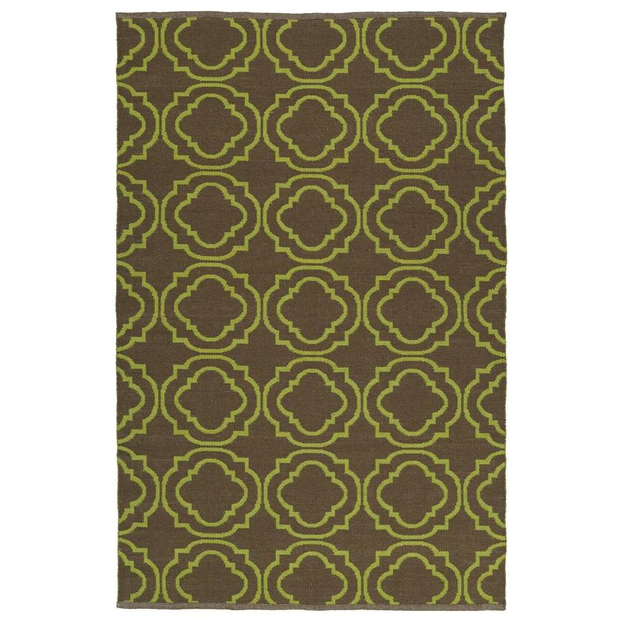 Kaleen Brisa Avocado Rectangular Indoor/Outdoor Handcrafted Coastal Area Rug (Common: 5 x 8; Actual: 5-ft W x 7.5-ft L)