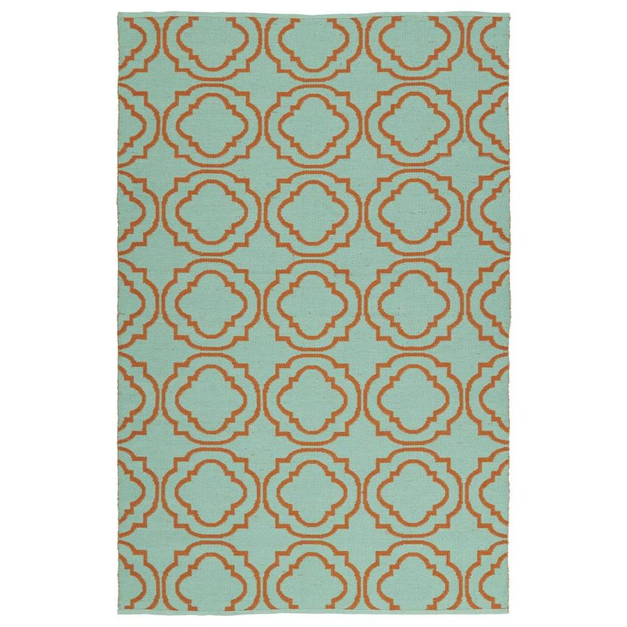 Kaleen Brisa Orange Rectangular Indoor/Outdoor Handcrafted Coastal Area Rug (Common: 5 x 8; Actual: 5-ft W x 7.5-ft L)