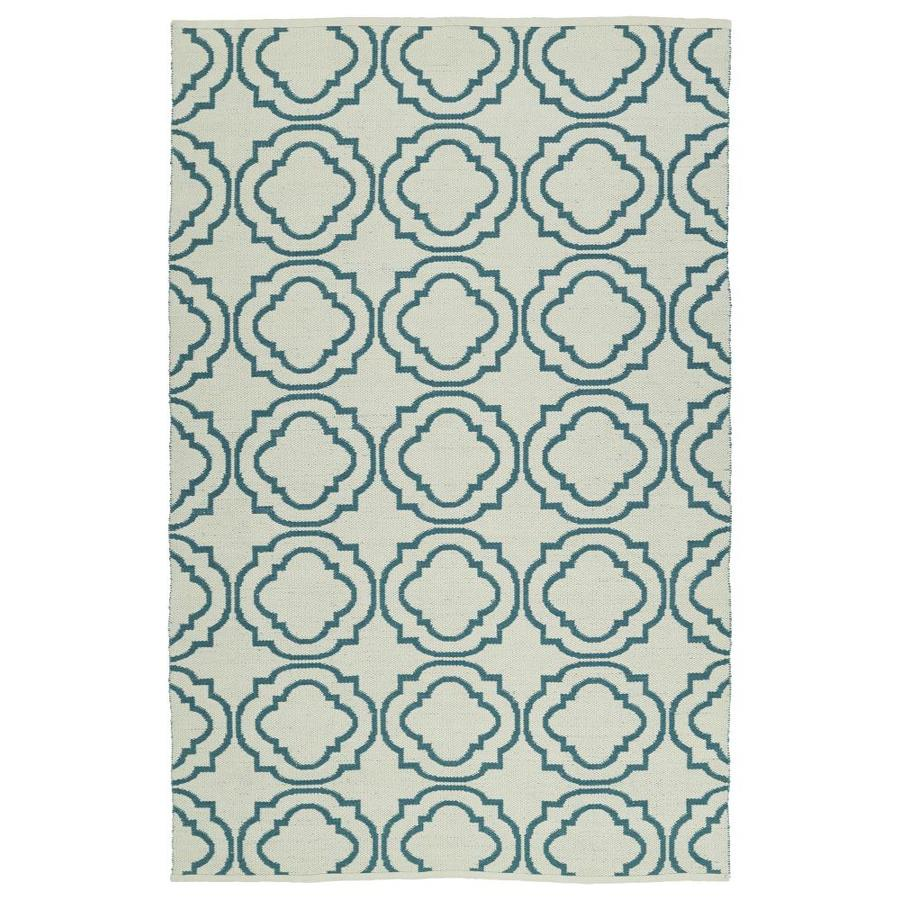 Kaleen Brisa Teal Indoor/Outdoor Handcrafted Coastal Throw Rug (Common: 2 x 3; Actual: 2-ft W x 3-ft L)