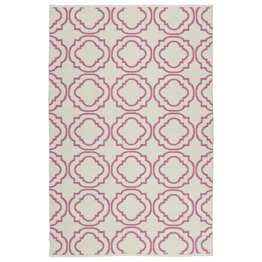 Kaleen Brisa Pink Rectangular Indoor/Outdoor Handcrafted Coastal Throw Rug (Common: 3 X 5; Actual: 3-ft W x 5-ft L)