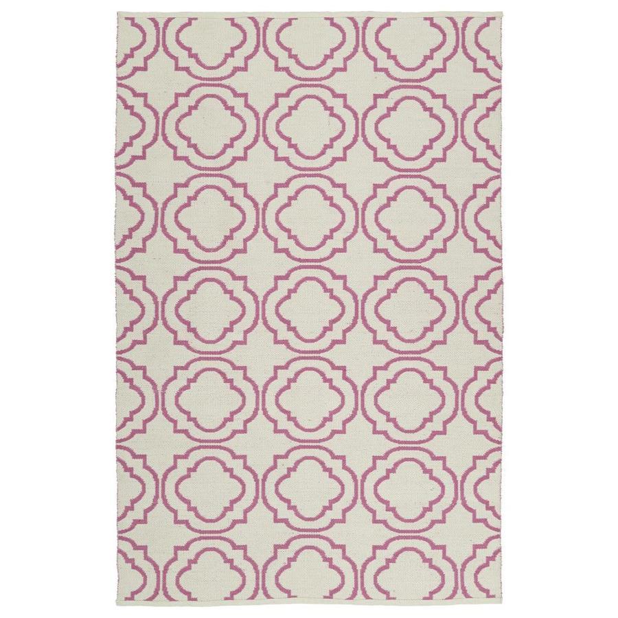 Kaleen Brisa Pink Rectangular Indoor/Outdoor Handcrafted Coastal Area Rug (Common: 9 x 12; Actual: 9-ft W x 12-ft L)