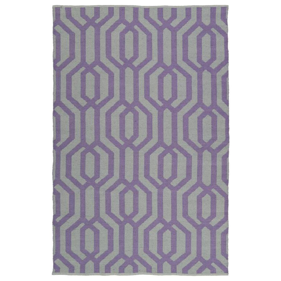 Kaleen Brisa Lilac Rectangular Indoor/Outdoor Handcrafted Coastal Area Rug (Common: 9 x 12; Actual: 9-ft W x 12-ft L)