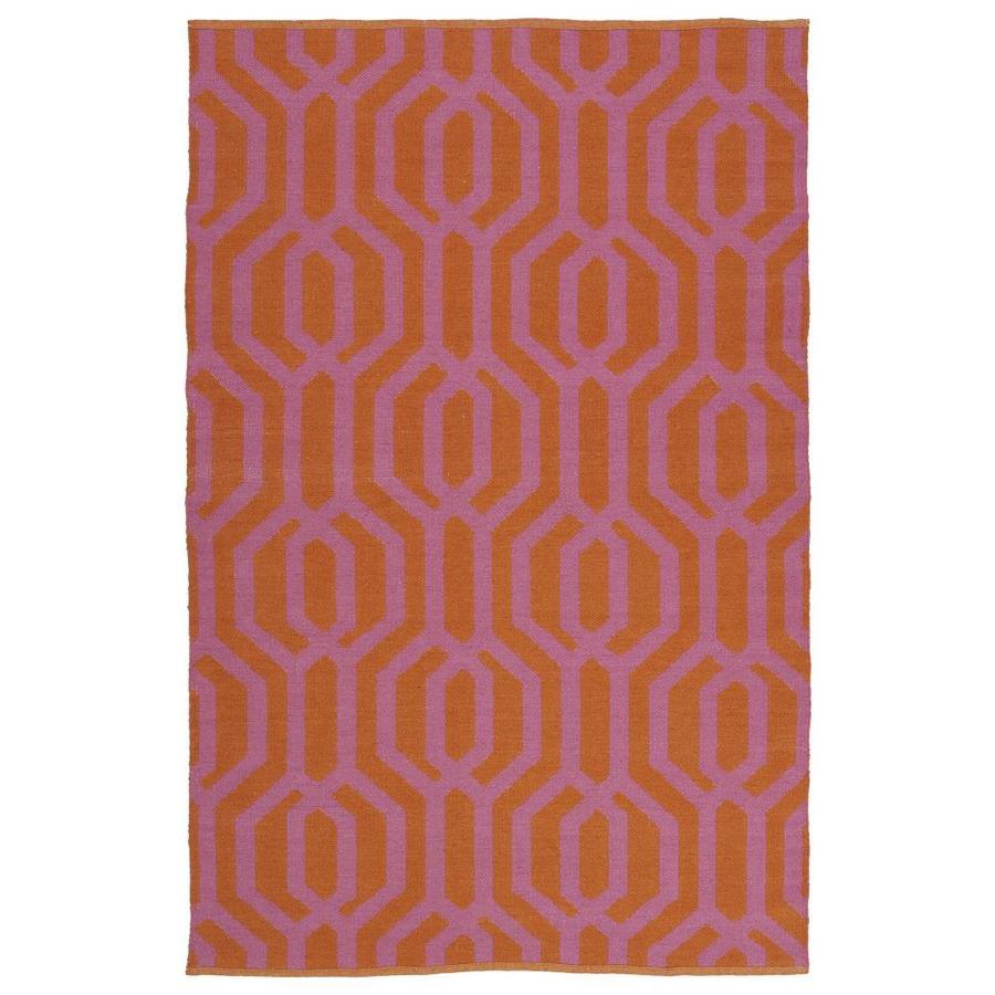 Kaleen Brisa Pink Rectangular Indoor/Outdoor Handcrafted Coastal Throw Rug (Common: 3 x 5; Actual: 3-ft W x 5-ft L)