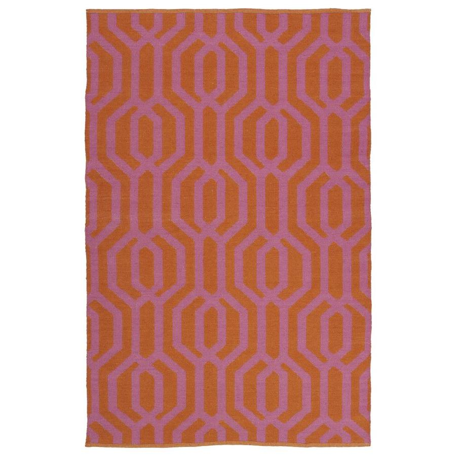 Kaleen Brisa Pink Indoor/Outdoor Handcrafted Coastal Area Rug (Common: 9 x 12; Actual: 9-ft W x 12-ft L)
