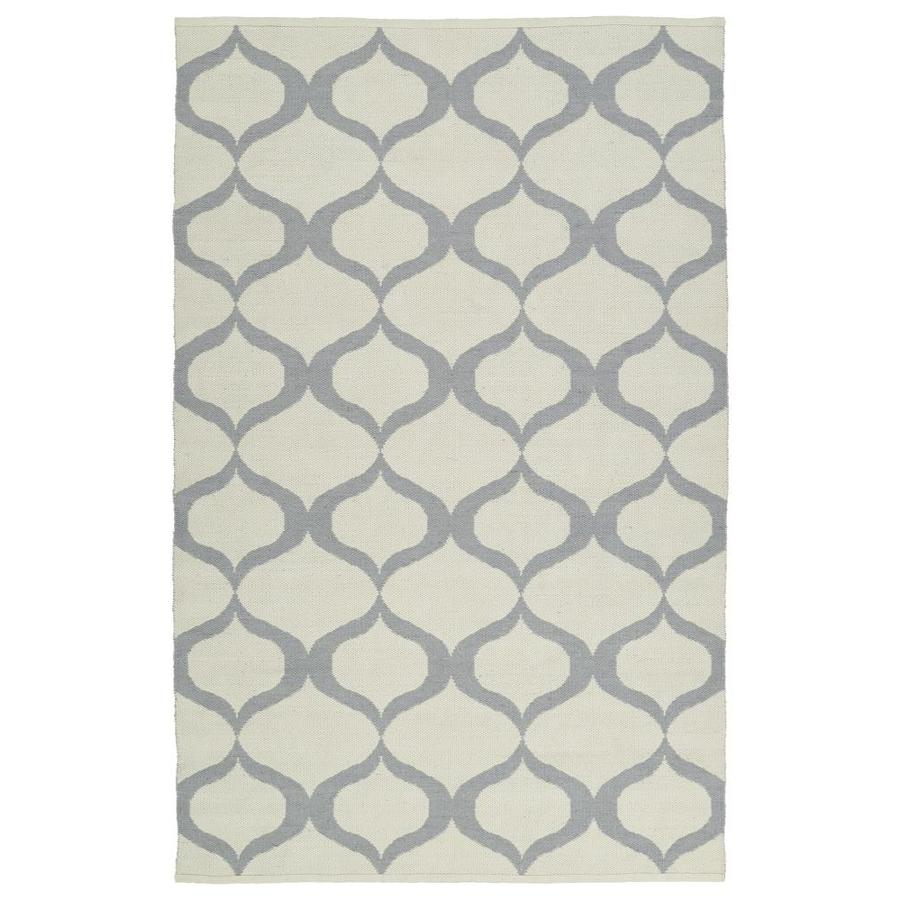 Kaleen Brisa Grey Rectangular Indoor/Outdoor Handcrafted Coastal Throw Rug (Common: 3 x 5; Actual: 3-ft W x 5-ft L)