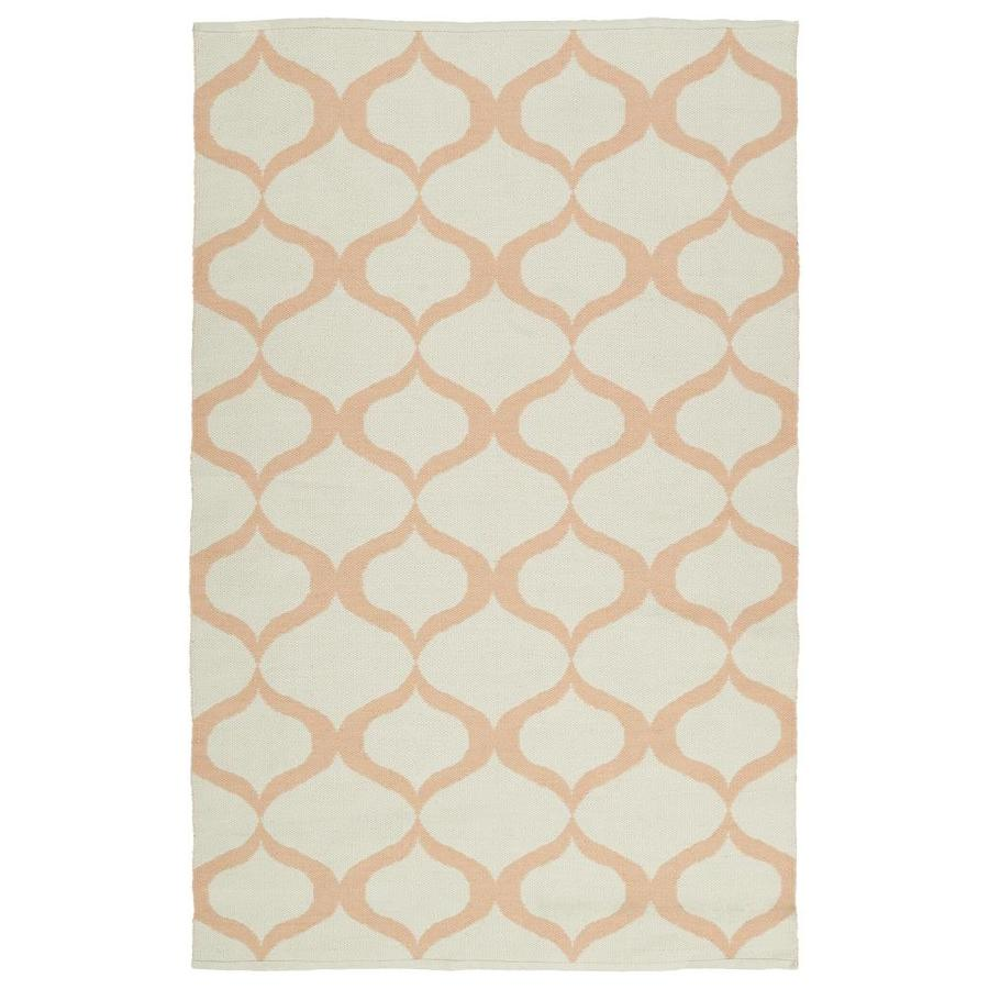 Kaleen Brisa Pink Rectangular Indoor/Outdoor Handcrafted Coastal Area Rug (Common: 8 x 10; Actual: 8-ft W x 10-ft L)
