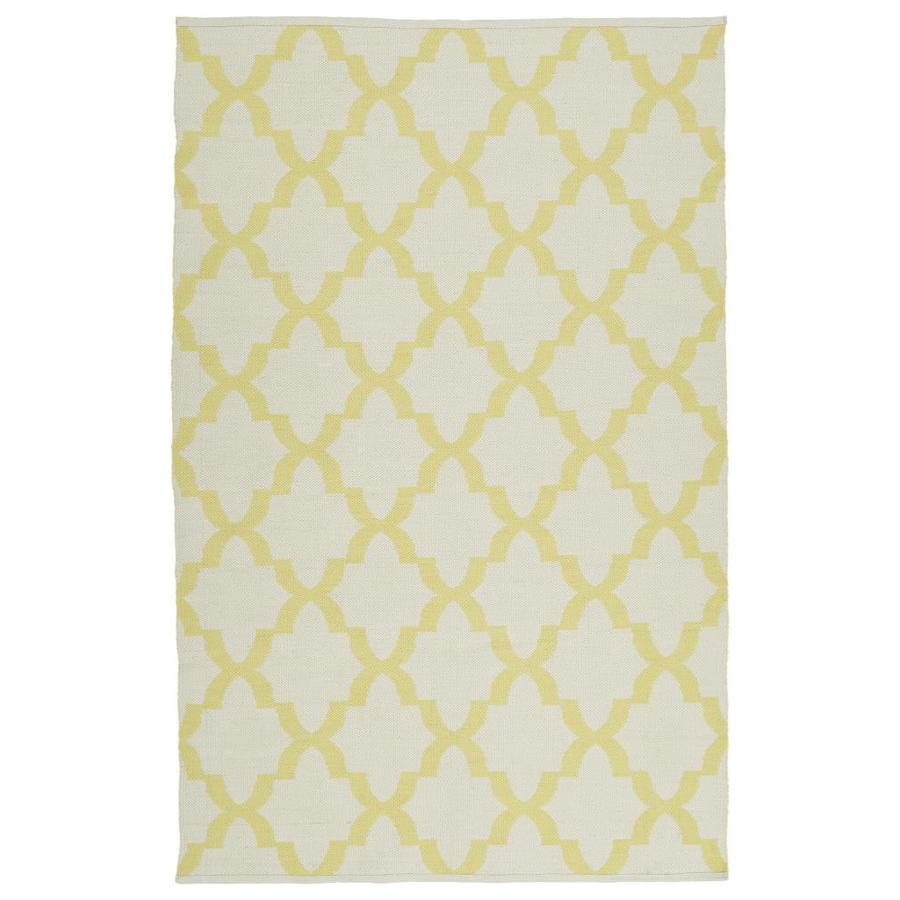 Kaleen Brisa Yellow Rectangular Indoor/Outdoor Handcrafted Coastal Throw Rug (Common: 3 x 5; Actual: 3-ft W x 5-ft L)