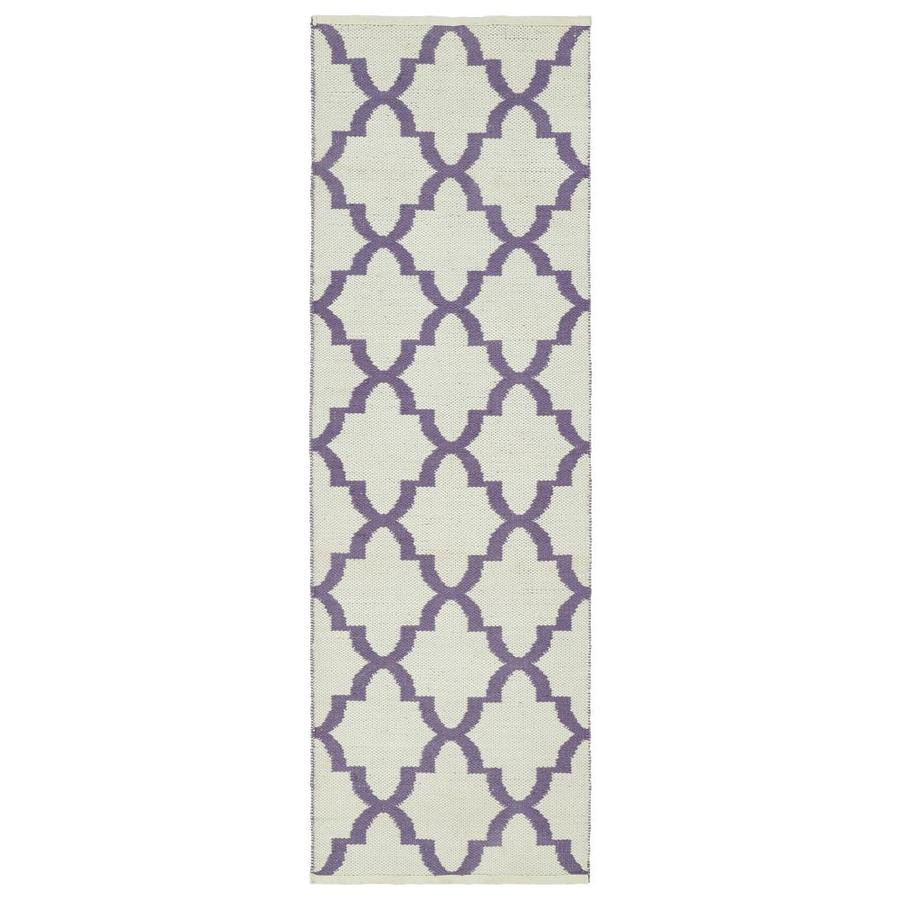 Kaleen Brisa Lilac Indoor/Outdoor Handcrafted Coastal Runner (Common: 2 x 6; Actual: 2-ft W x 6-ft L)