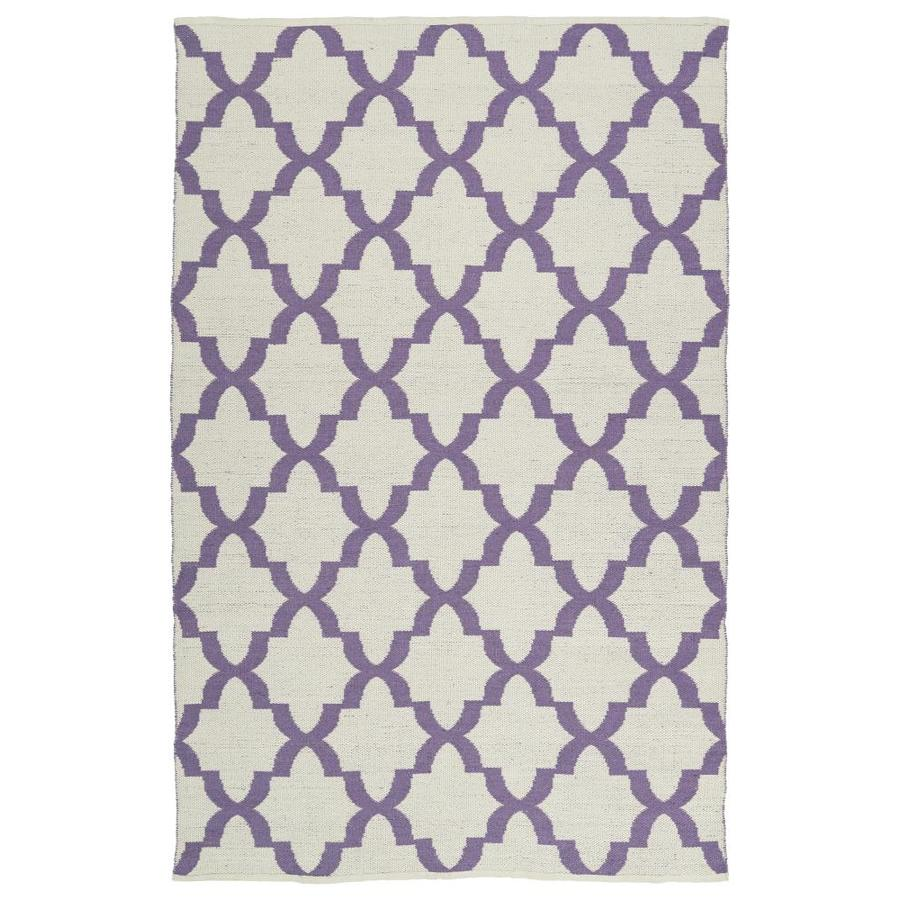 Kaleen Brisa Lilac Rectangular Indoor/Outdoor Handcrafted Coastal Area Rug (Common: 8 x 10; Actual: 8-ft W x 10-ft L)