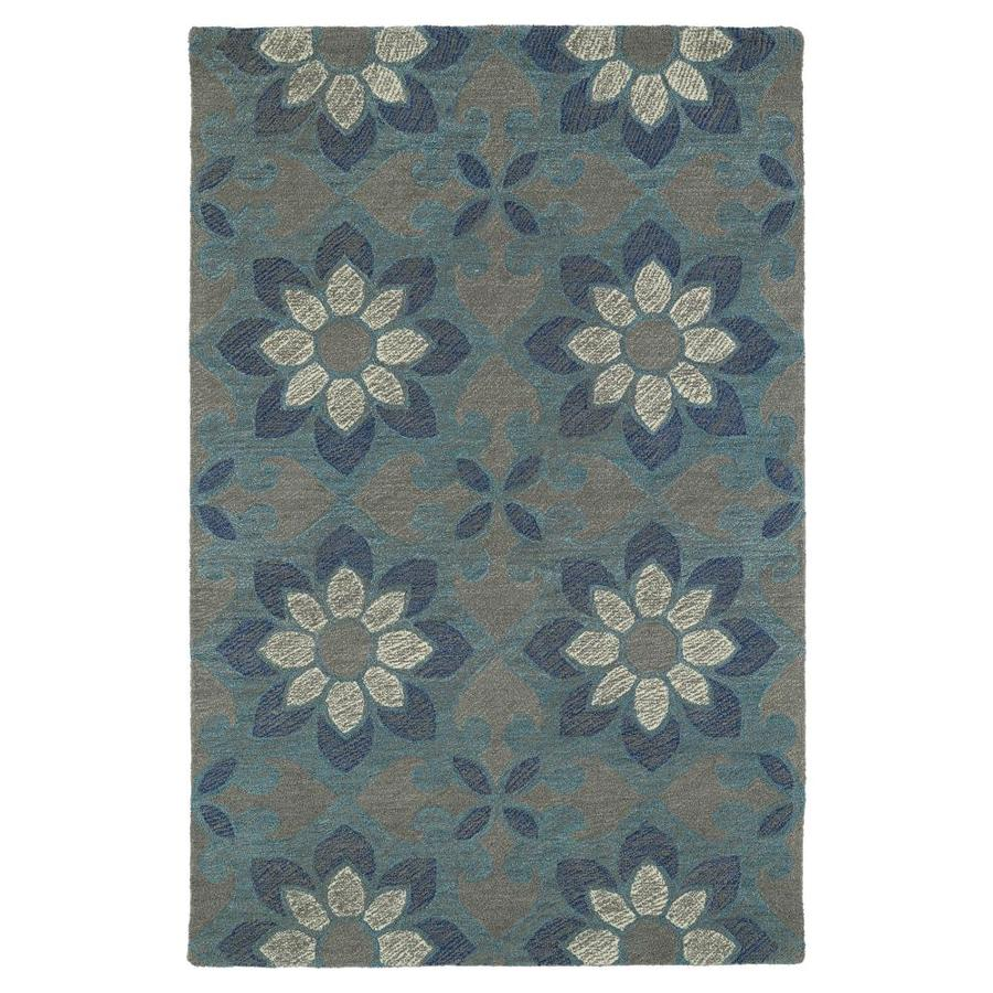 Kaleen Montage Grey Indoor Handcrafted Distressed Area Rug (Common: 9 x 12; Actual: 9-ft W x 12-ft L)