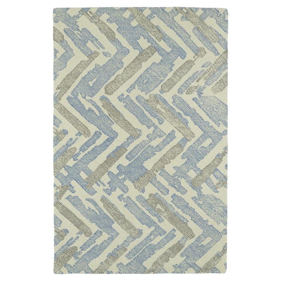 Kaleen Montage Ivory Rectangular Indoor Handcrafted Distressed Area Rug (Common: 5 X 8; Actual: 5-ft W x 7.75-ft L x 0-ft dia)