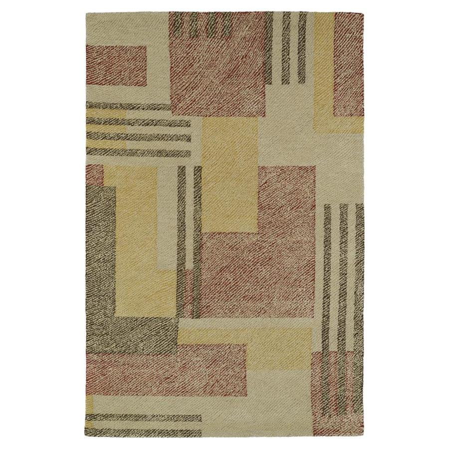 Kaleen Montage Camel Indoor Handcrafted Distressed Throw Rug (Common: 2 x 3; Actual: 2-ft W x 3-ft L)