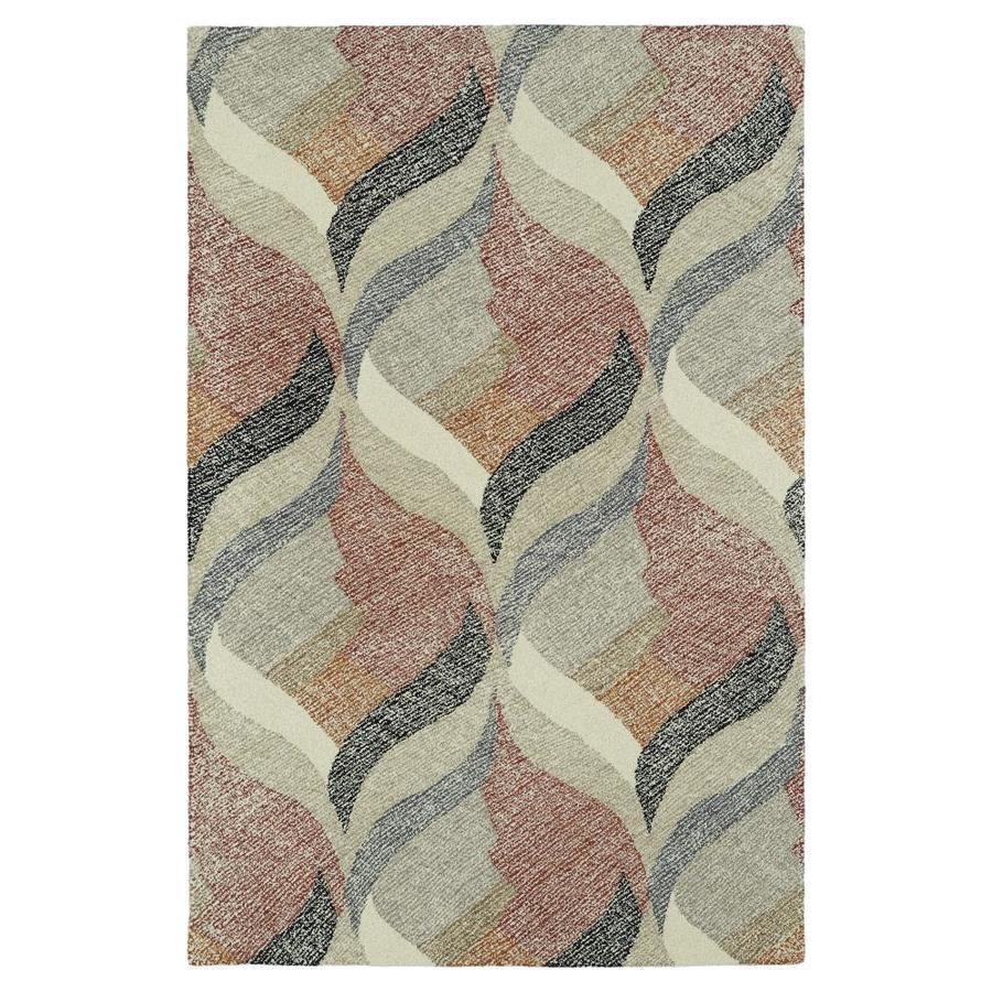 Kaleen Montage Ivory Rectangular Indoor Handcrafted Distressed Throw Rug (Common: 2 x 3; Actual: 2-ft W x 3-ft L)