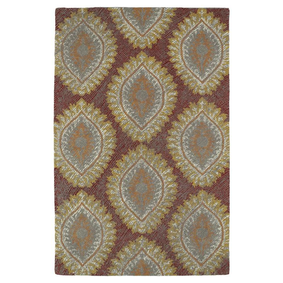 Kaleen Montage Red Indoor Handcrafted Distressed Area Rug (Common: 8 x 10; Actual: 8-ft W x 10-ft L)