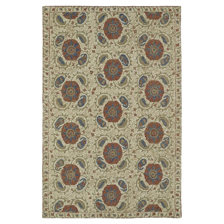 Kaleen Montage Camel Rectangular Indoor Handcrafted Distressed Throw Rug (Common: 2 x 3; Actual: 2-ft W x 3-ft L)