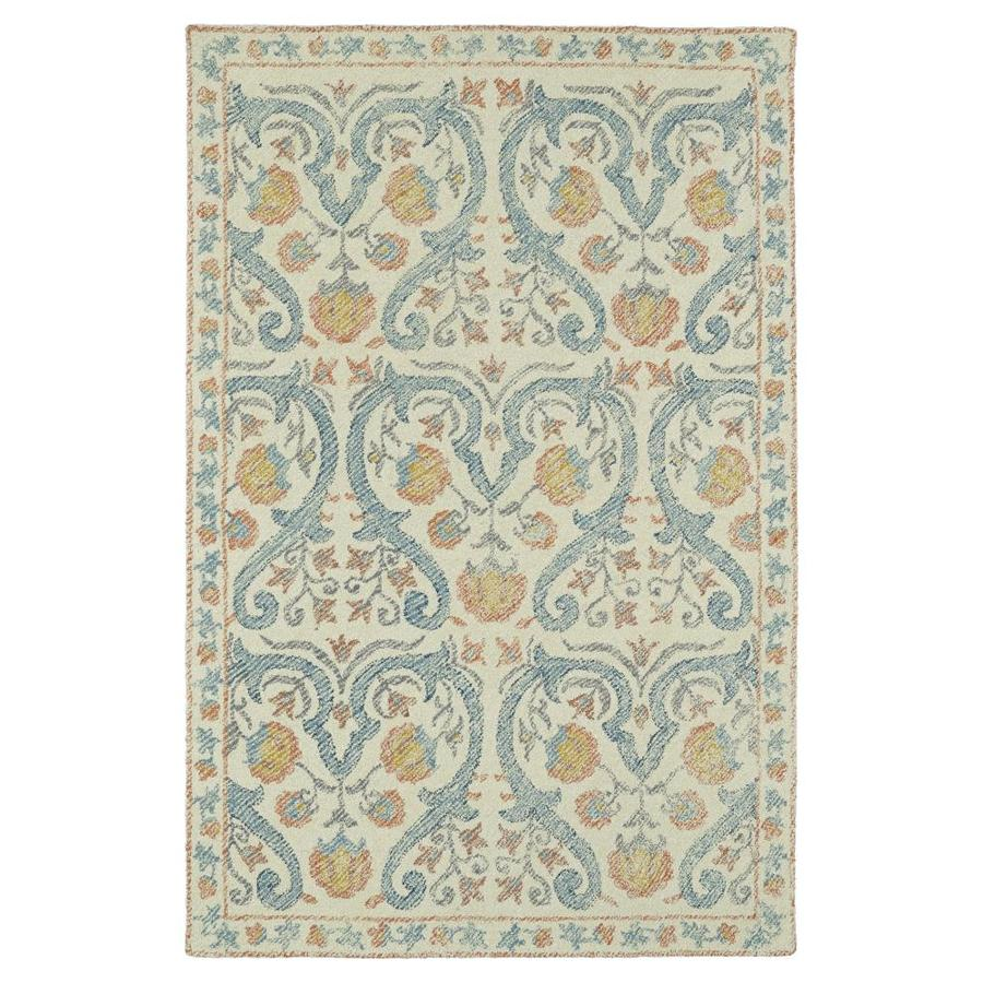 Kaleen Montage Teal Rectangular Indoor Handcrafted Distressed Runner (Common: 3 X 8; Actual: 2.5-ft W x 8-ft L)