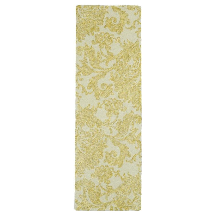 Kaleen Montage Gold Rectangular Indoor Handcrafted Distressed Runner (Common: 3 x 8; Actual: 2.5-ft W x 8-ft L)