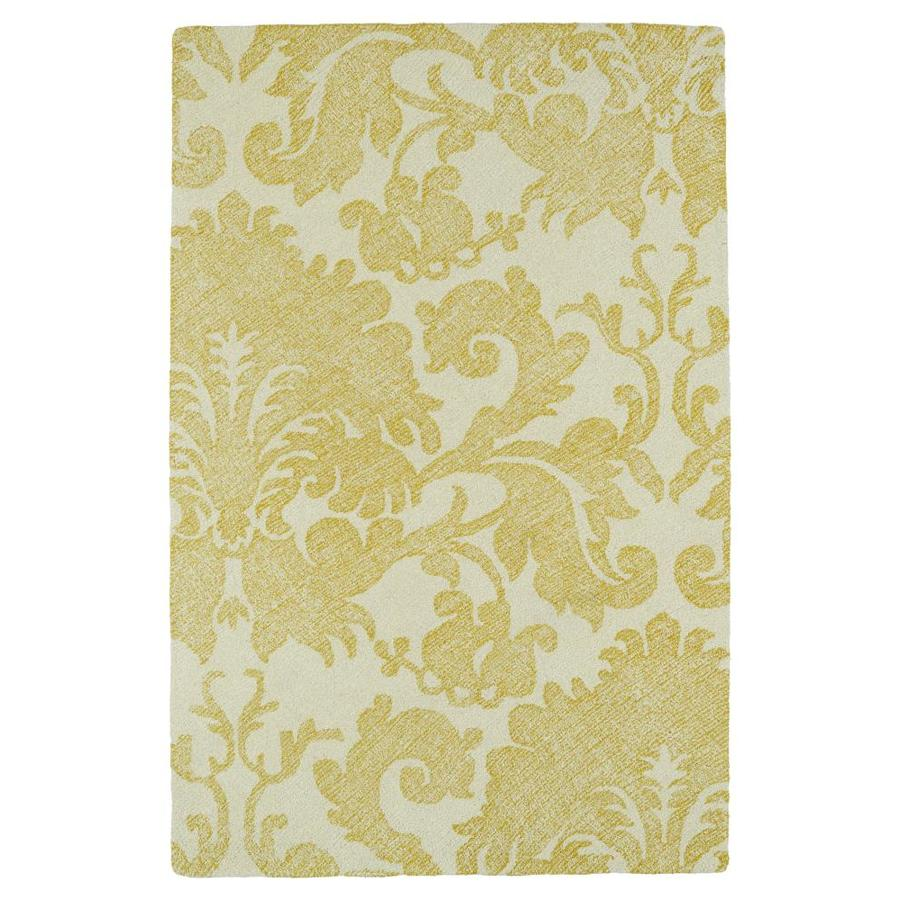 Kaleen Montage Gold Rectangular Indoor Handcrafted Distressed Area Rug (Common: 8 x 10; Actual: 8-ft W x 10-ft L)