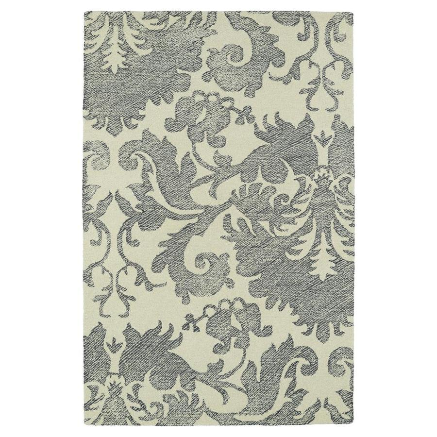 Kaleen Montage Grey Indoor Handcrafted Distressed Area Rug (Common: 5 x 8; Actual: 5-ft W x 7.75-ft L)