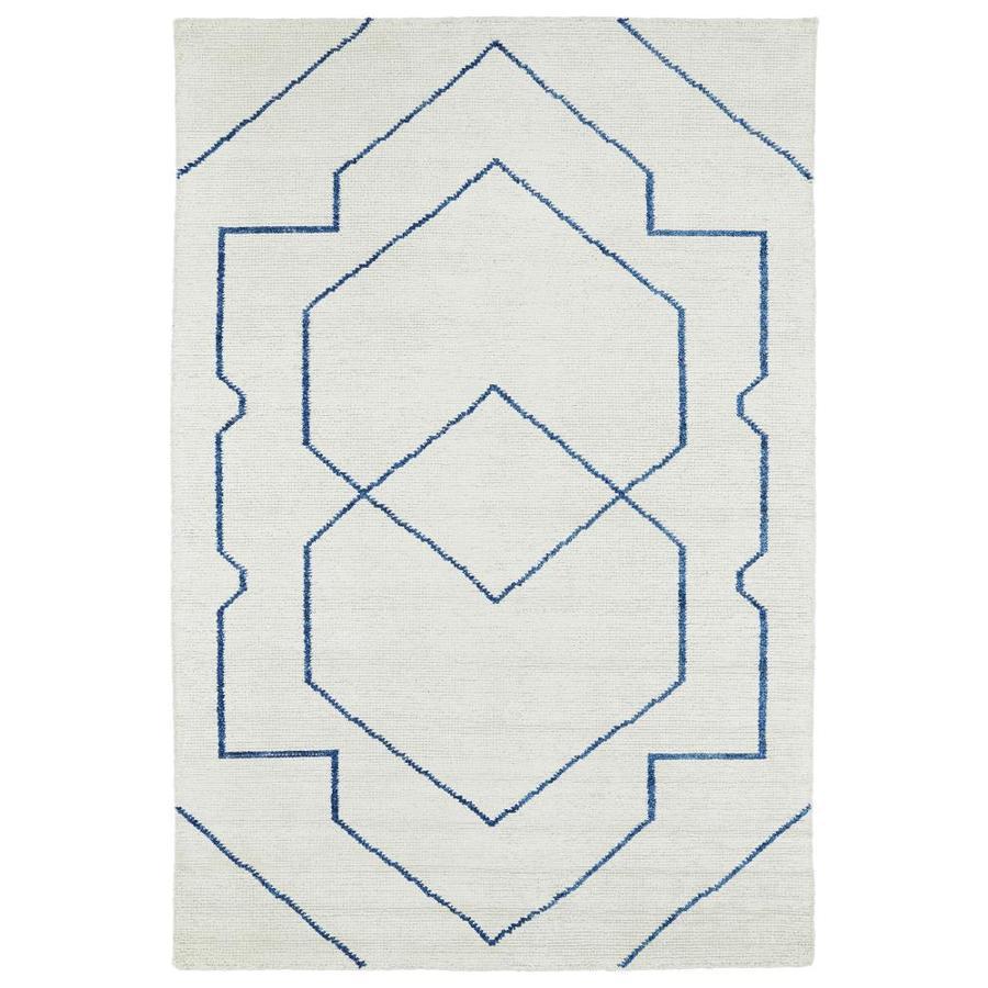 Kaleen Solitaire Ivory Rectangular Indoor Handcrafted Lodge Area Rug (Common: 4 x 6; Actual: 4-ft W x 6-ft L)