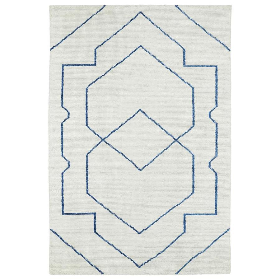 Kaleen Solitaire Ivory Indoor Handcrafted Lodge Area Rug (Common: 5 x 8; Actual: 5-ft W x 7.75-ft L)