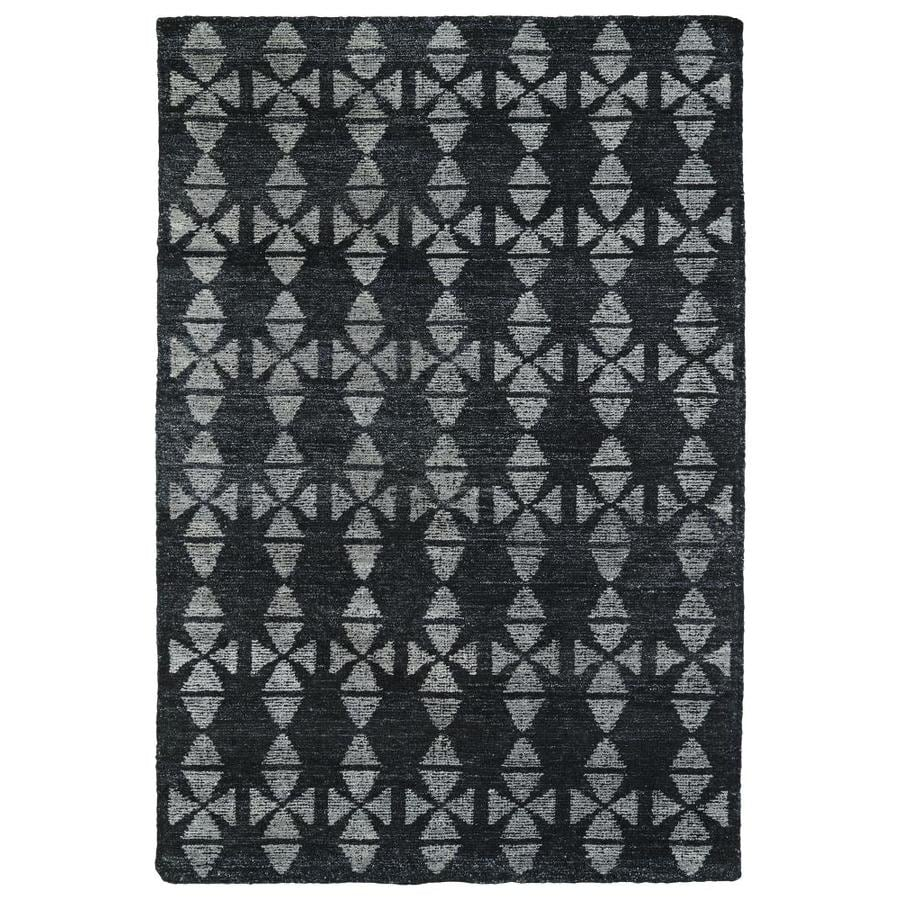Kaleen Solitaire Charcoal Rectangular Indoor Handcrafted Lodge Area Rug (Common: 4 X 6; Actual: 4-ft W x 6-ft L x 0-ft dia)