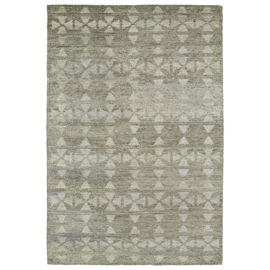 Kaleen Solitaire Oatmeal Rectangular Indoor Handcrafted Lodge Area Rug (Common: 4 x 6; Actual: 4-ft W x 6-ft L)