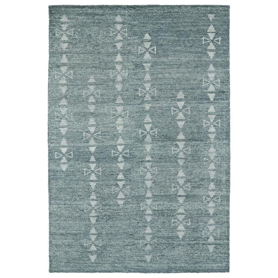 Kaleen Solitaire Ice Rectangular Indoor Handcrafted Lodge Area Rug (Common: 4 x 6; Actual: 4-ft W x 6-ft L)