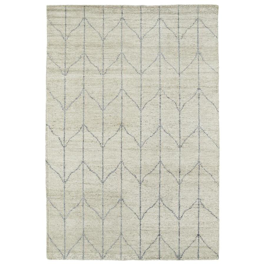Kaleen Solitaire Sand Indoor Handcrafted Lodge Area Rug (Common: 5 x 8; Actual: 5-ft W x 7.75-ft L)