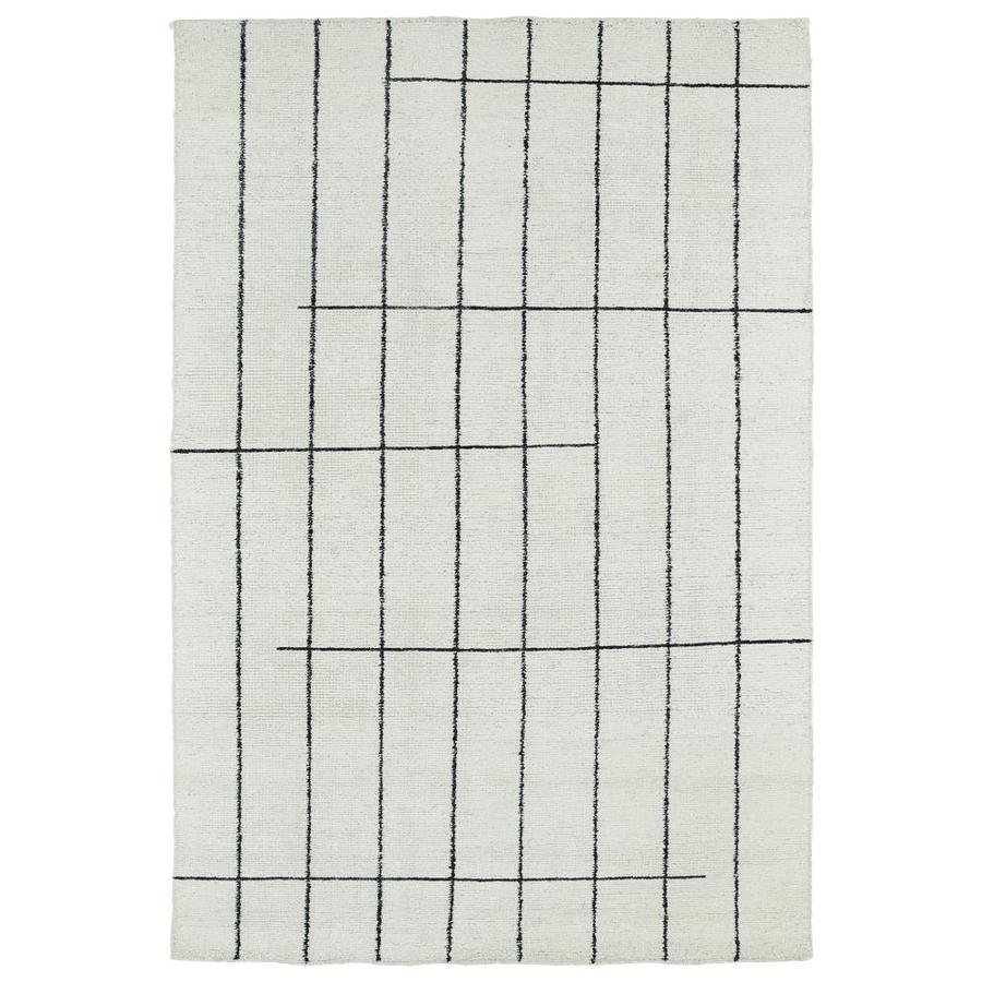 Kaleen Solitaire Ivory Rectangular Indoor Handcrafted Lodge Area Rug (Common: 4 x 6; Actual: 4-ft W x 6-ft L)