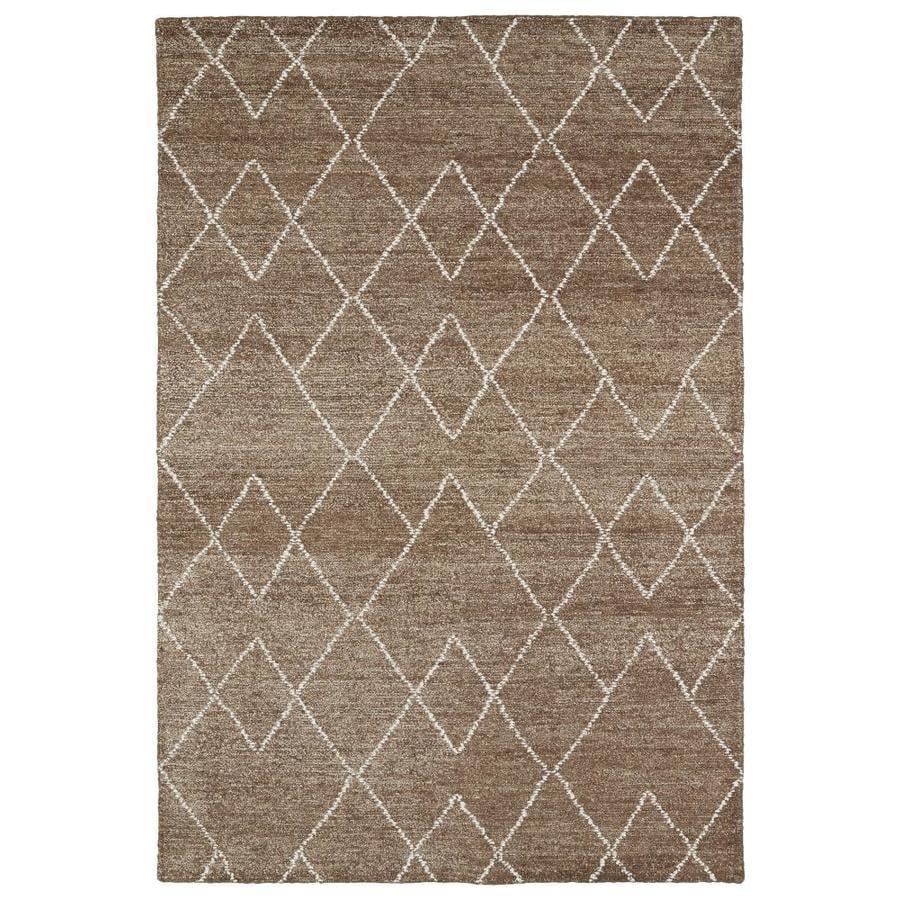 Kaleen Solitaire Brown Rectangular Indoor Handcrafted Lodge Throw Rug (Common: 2 x 3; Actual: 2-ft W x 3-ft L)