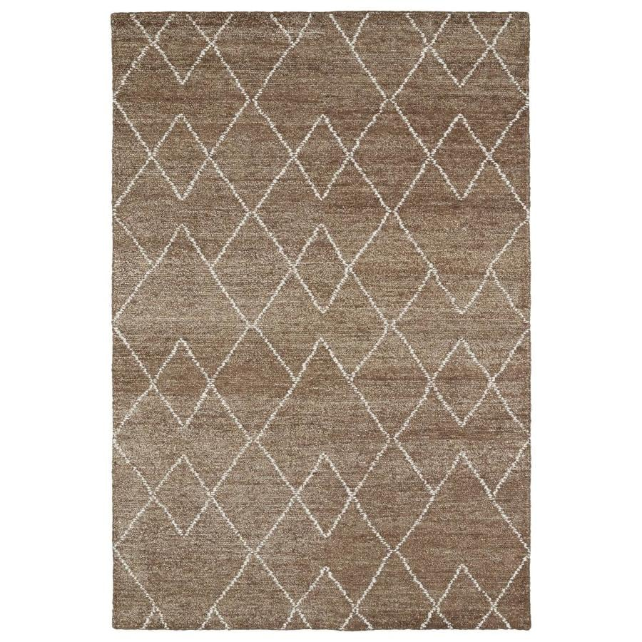 Kaleen Solitaire Brown Rectangular Indoor Handcrafted Lodge Area Rug (Common: 8 x 11; Actual: 8-ft W x 11-ft L)