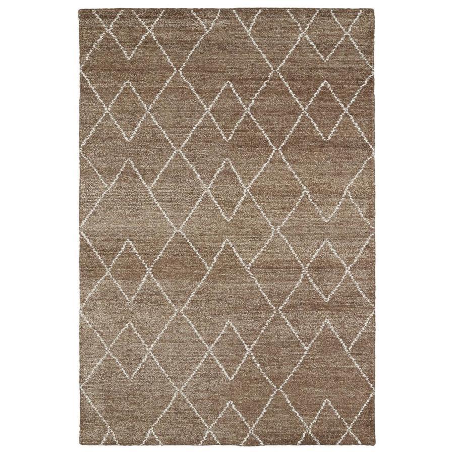 Kaleen Solitaire Brown Rectangular Indoor Handcrafted Lodge Area Rug (Common: 10 x 13; Actual: 9.5-ft W x 13-ft L)