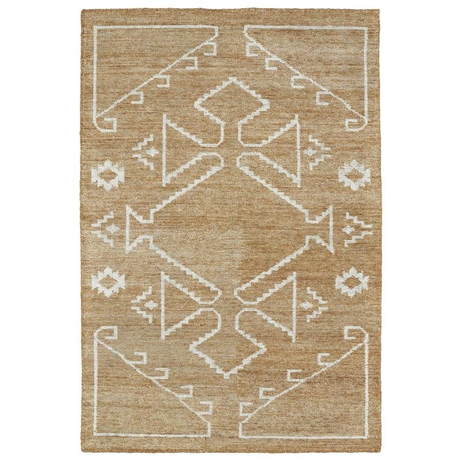 Kaleen Solitaire Copper Rectangular Indoor Handcrafted Lodge Area Rug (Common: 5 X 8; Actual: 5-ft W x 7.75-ft L)