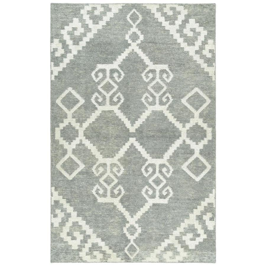 Kaleen Solitaire 10 X 13 Grey Indoor Geometric Mid Century Modern Handcrafted Area Rug In The Rugs Department At Lowes Com