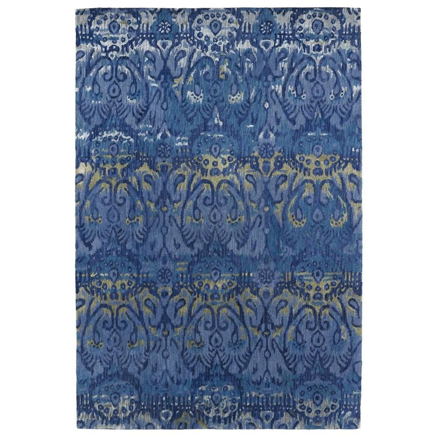 Kaleen Mercery Azure Rectangular Indoor Handcrafted Southwestern Area Rug (Common: 8 x 11; Actual: 8-ft W x 11-ft L)