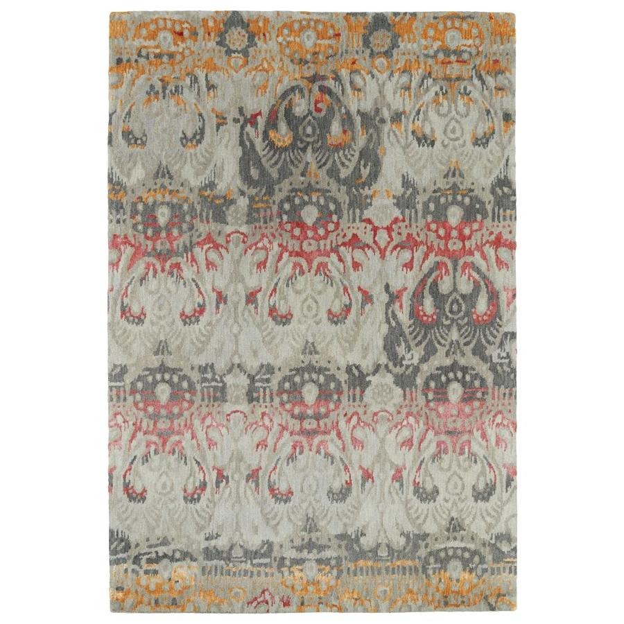Kaleen Mercery Fire Indoor Handcrafted Southwestern Area Rug (Common: 4 x 6; Actual: 3.5-ft W x 5.5-ft L)