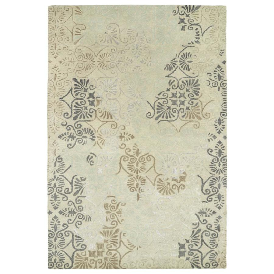 Kaleen Mercery Beige Indoor Handcrafted Southwestern Area Rug (Common: 4 x 6; Actual: 3.5-ft W x 5.5-ft L)