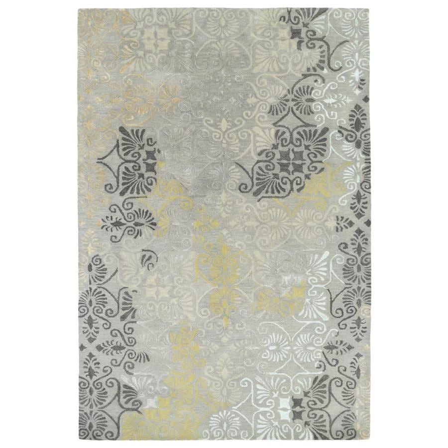 Kaleen Mercery Grey Indoor Handcrafted Southwestern Area Rug (Common: 8 x 11; Actual: 8-ft W x 11-ft L)