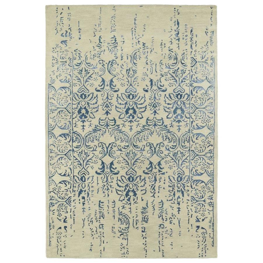 Kaleen Mercery Blue Rectangular Indoor Handcrafted Southwestern Area Rug (Common: 5 x 8; Actual: 5-ft W x 7.75-ft L)