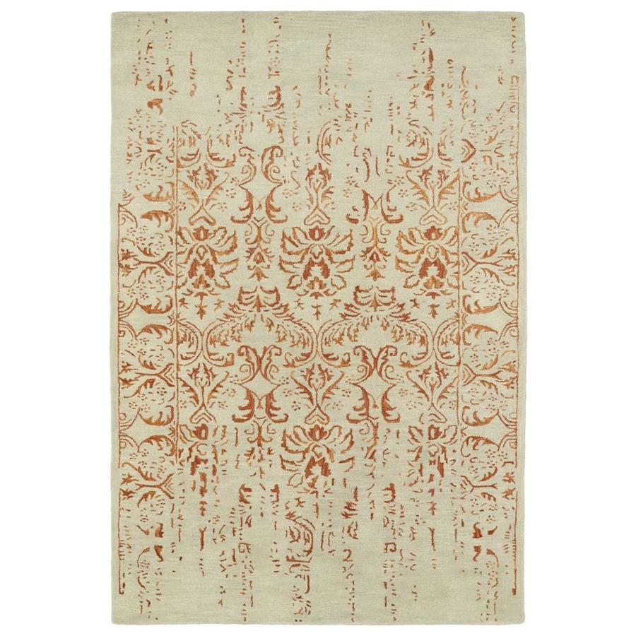 Kaleen Mercery Paprika Rectangular Indoor Handcrafted Southwestern Area Rug (Common: 4 x 6; Actual: 3.5-ft W x 5.5-ft L)