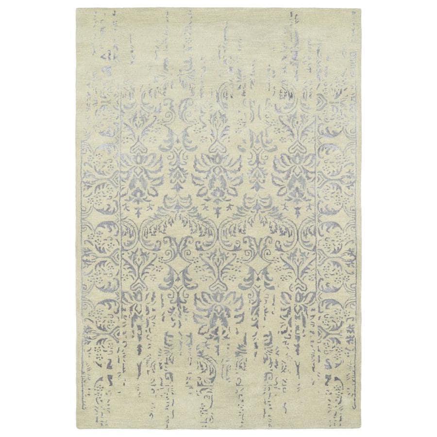 Kaleen Mercery Grey Rectangular Indoor Handcrafted Southwestern Area Rug (Common: 4 x 6; Actual: 3.5-ft W x 5.5-ft L)