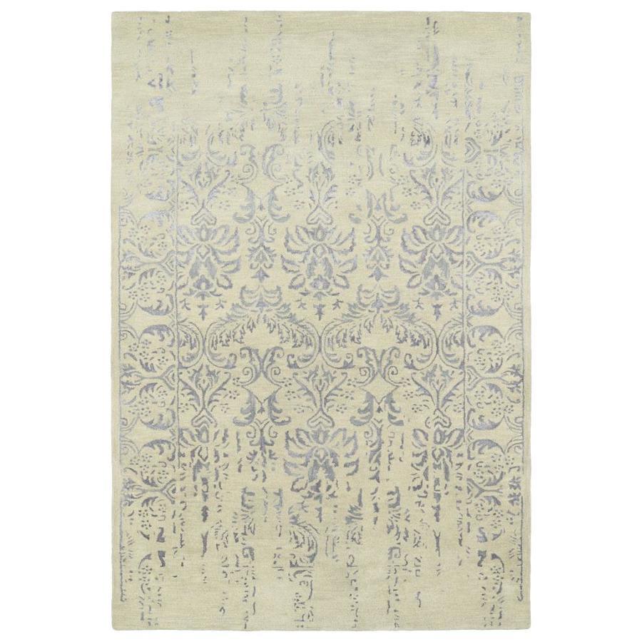 Kaleen Mercery Grey Rectangular Indoor Handcrafted Southwestern Area Rug (Common: 5 x 8; Actual: 5-ft W x 7.75-ft L)
