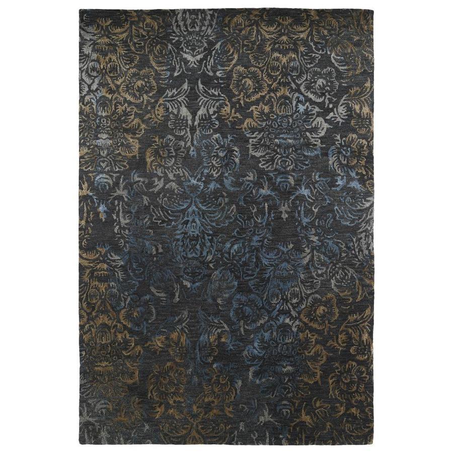 Kaleen Mercery Charcoal Rectangular Indoor Handcrafted Southwestern Area Rug (Common: 4 x 6; Actual: 3.5-ft W x 5.5-ft L)